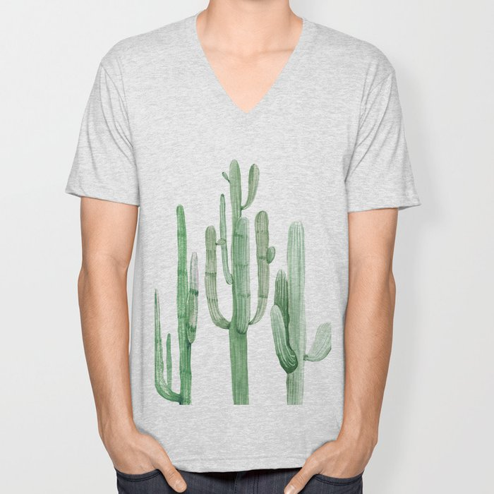Three Amigos White + Green by Nature Magick Unisex V-Neck