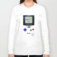 gameboy Long Sleeve T-shirts featuring GAMEBOY by MiliarderBrown