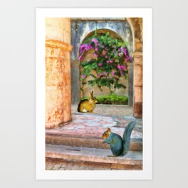 The Simple Life – Painting – by Liane Wright Art Print
