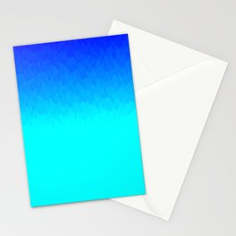 Electric Blue Ombre flames / Light Blue to Dark Blue Stationery Cards