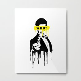 Doctor Who #yellow Metal Print