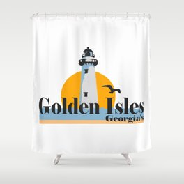 Golden Isles - Georgia. Shower Curtain