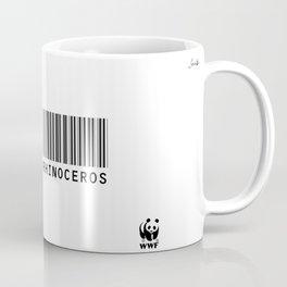 Corne de rhinocéros colors urban fashion culture Jacob's 1968 Paris Agency for WWF Coffee Mug