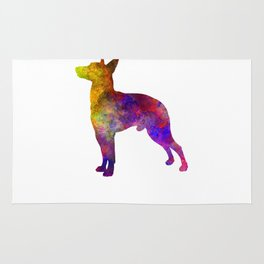 Manchester Terrier in watercolor Rug