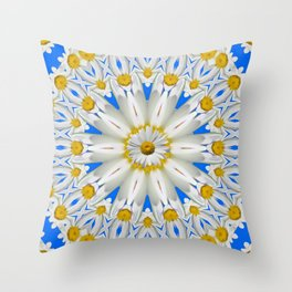 Daisy Chain Kaleidoscope A151 Throw Pillow