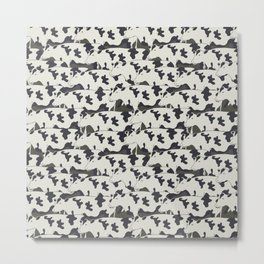 Pattern all cows Metal Print