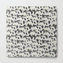 Pattern all cows Metal Print