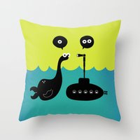 submarine Throw Pillows featuring Submarine by Michael Goodson