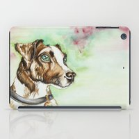 jack russell iPad Cases featuring Jack Russell Terrier by lauramaahs