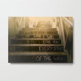 Love Steps Metal Print