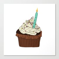cake Canvas Prints featuring Cake by elyinspira