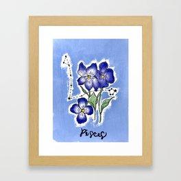 February Pisces Framed Art Print