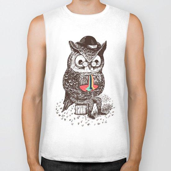 Strange Owl Biker Tank