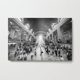 Grand Central Daylight (classic black & white edition) Metal Print