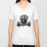assassins creed V-neck T-shirts featuring assassins creed ezio auditore by ururuty