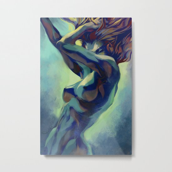 Pepper Motion Metal Print