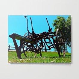 Antique Farm Implement Metal Print