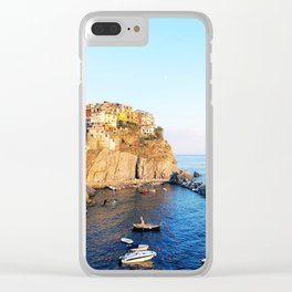 Cinque Terre dusk Clear iPhone Case