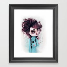 hole on my own heart Framed Art Print