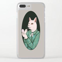 Cat Lip Clear iPhone Case