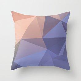 Ariel — poster purpur, violet, rosa, nude, solmon, low poly, geometric, water, landscape, sunrise Throw Pillow