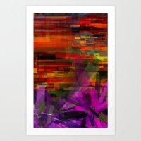 deconstructed lilies  Art Print
