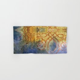 Blue and Gold Hand & Bath Towel