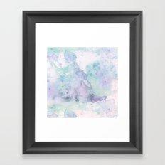 Pastel modern purple lavender hand painted watercolor wash Framed Art Print