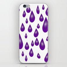 Purple Raindrops iPhone & iPod Skin