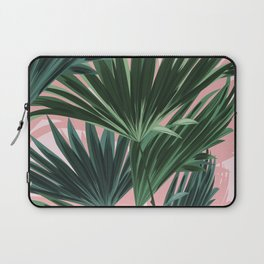 Pink and green palm trees Laptop Sleeve