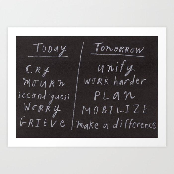 Today/Tomorrow Art Print