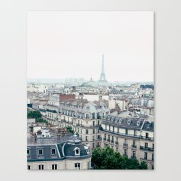 Eiffel Tower and Parisian roofs Canvas Print