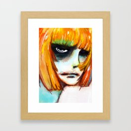 SO HAPPY Framed Art Print