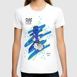 Mr.ShoeLock (blue) T-shirt