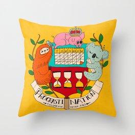 procrasti nation Throw Pillow