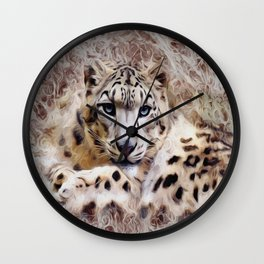 Leopard Painting Wall Clock