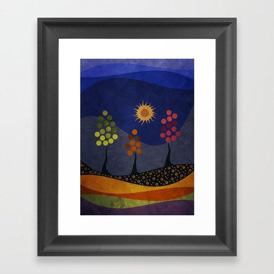 Paisaje y color Framed Art Print
