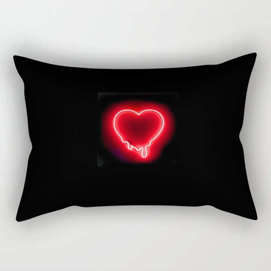 Heart (Neon-Red Edition) Rectangular Pillow