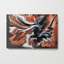 Copper Fox Metal Print