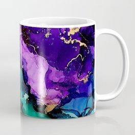 Mardi Gras Alcohol Ink Artwork Coffee Mug