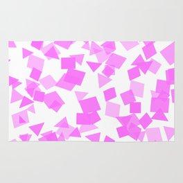 Festive Pink Confetti Rug