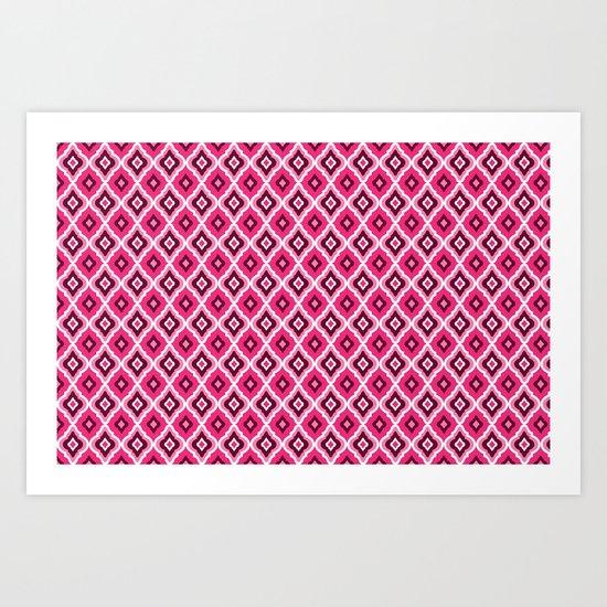Morrocan Manor in Pink Art Print