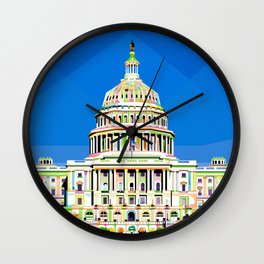 Capitol Building in Anomali WPAP Wall Clock