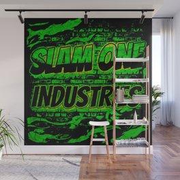 Slam 1 Industries Green Wall of Fire Wall Mural