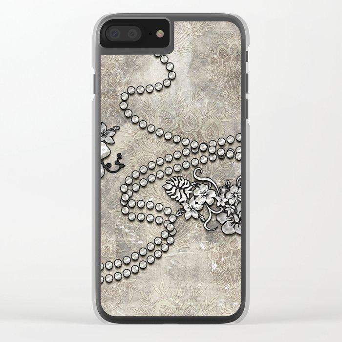 Wonderful decorative vintage design Clear iPhone Case