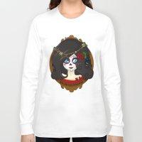dia de los muertos Long Sleeve T-shirts featuring Dia de Los Muertos by Lilolilosa