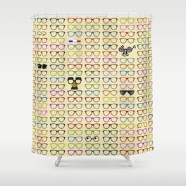 Choices -- Which Eyeglasses to Choose Shower Curtain