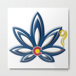 Colorado Cannabis Metal Print