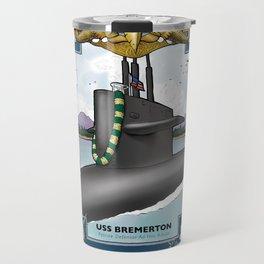 USS Bremerton - Pearl Harbor Submarine Service (Gold Dolphins) Travel Mug