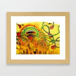 Jellyzilla destroys the Windy City Framed Art Print